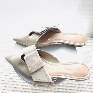 Zara flats bow detail slip on mule size 38